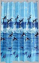 AQUALONA Shower Curtain-100% PEVA-Water Repellent,