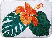 Aqualona Tropical Leaf Microfibre Bath Mat
