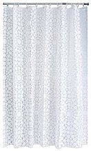 Aqualona White Flora Shower Curtain