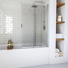 Aqualux Aqua 4 2 Panel Slider Bath Screen (Chrome Frame)