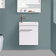 Aquariss - 440mm Gloss White Cloakroom Basin