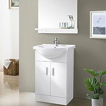 Aquariss - 550mm White Basin Vanity Unit Sink