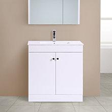 Aquariss - 800mm 2 Door Gloss White Wash Basin