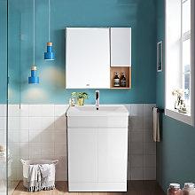 Aquariss - Gloss White Bathroom Vanity Sink Unit