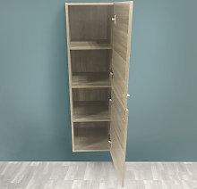 Aquariss - Grey Oak Effect 1200mm Tall Cupboard
