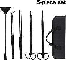 Aquarium Tools Kit, 5 in 1 Stainless Steel Long