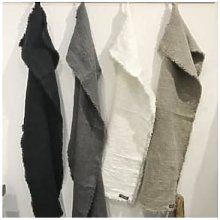 AquaVireo - Extra Large Black Linen Napkin