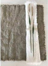 AquaVireo - Gray Linen Napkin