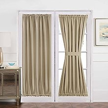 Aquazolax Blackout Door Curtain Window Treatment