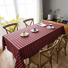 Aquazolax Linen Look Tablecloth Stylish Red