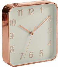 AR Wall Clock Square Shape Metallic Design, 18 x