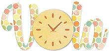 Aracne Italy Arredo Fly Pendulum Clock, Yellow,