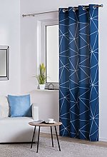 Arana Curtain Navy Blue
