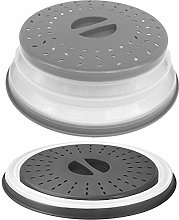 Aranticy 2Pcs Collapsible Microwave Plate Cover