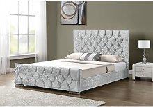 Ararat Upholstered Bed Frame Rosdorf Park Size: