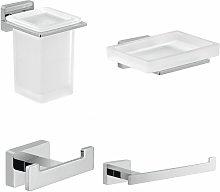 Architeckt - Bathroom 4 Piece Accessory Set Square