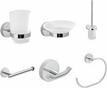 Architeckt - Bathroom Chrome 6 Piece Accessory Set