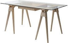 Arco Desk - / Glass and wood - 150 x 75 cm by