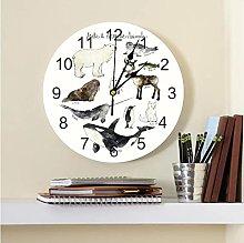 Arctic Antarctic Animals Printed PVC Wall Clock