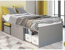 Arctic Grey Wooden Low Sleeper Storage Bed Frame -