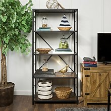 Ardoch Bookcase Union Rustic Colour: Dark Walnut