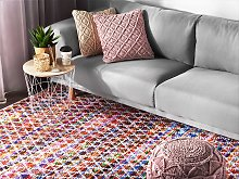 Area Rag Rug Multicolour Cotton 160 x 230 cm