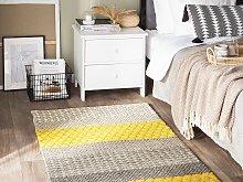 Area Rug 80 x 150 cm Multicolour Wool Bedroom