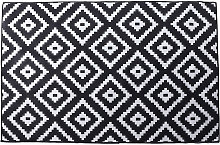 Area Rug Bedroom Living Room Carpet 120x160cm black