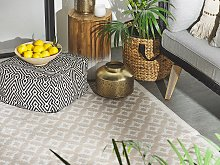 Area Rug Beige Synthetic Material 120 x 180 cm