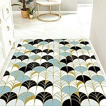 Area Rug Black hallway runner Creative geometric