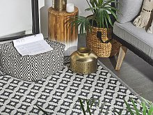Area Rug Black Synthetic Material 120 x 180 cm