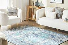 Area Rug Blue 160 x 230 cm Oriental Distressed