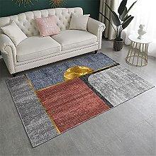 area rug Blue gray orange carpet bedroom living
