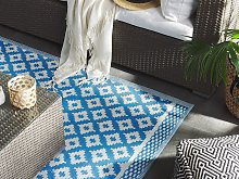 Area Rug Blue Synthetic Material 160 x 230 cm