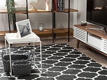 Area Rug Carpet Black and White Reversible