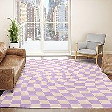 Area Rug Carpet Check V - Lilac Twist —