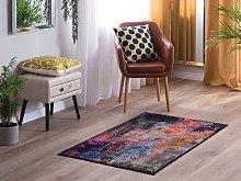 Area Rug Carpet Multicolour Polyester Fabric