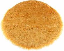 Area Rug Faux Fur Fake Rug Round Non- Floor Carpet