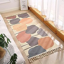 Area Rug for Bedroom, Cotton Woven Soft Rug with