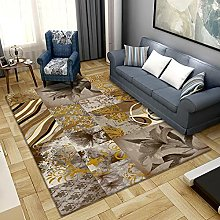 Area Rug,Gray-Yellow Flowers 160x230cm Rug,For