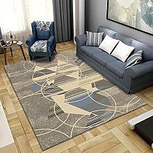 Area Rug,Gray-Yellow Geometric 160x230cm Rug,For