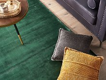Area Rug Green Viscose 140 x 200 cm Tufted Low