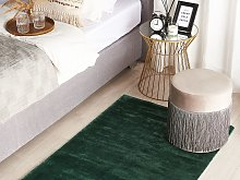 Area Rug Green Viscose 80 x 150 cm Tufted Low Pile