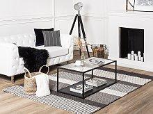 Area Rug Grey 140 x 200 cm Wool Living Room Home