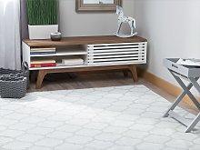 Area Rug Grey Fabric 160 x 230 cm Reversible