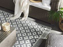 Area Rug Grey Synthetic Material 120 x 180 cm