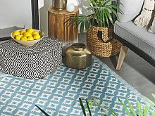 Area Rug Light Blue Synthetic Material 120 x 180