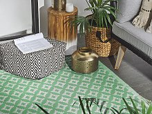 Area Rug Light Green Synthetic Material 120 x 180