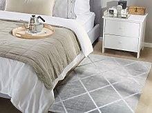 Area Rug Light Grey Silver Pattern 80 x 150 cm