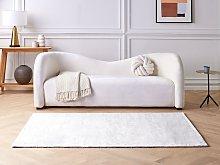 Area Rug Light Grey Viscose 140 x 200 cm Tufted